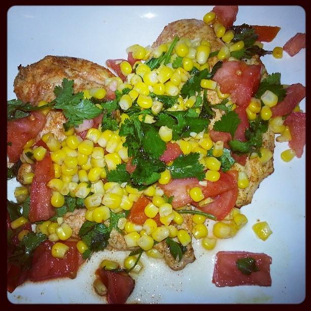 chicken corn tomato